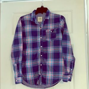 Hollister plaid button up size medium
